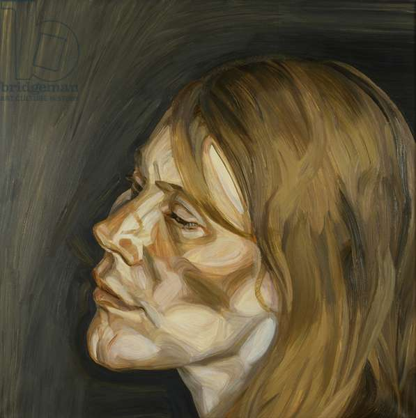 Head of a Woman, 1962-63 (oil on canvas)
