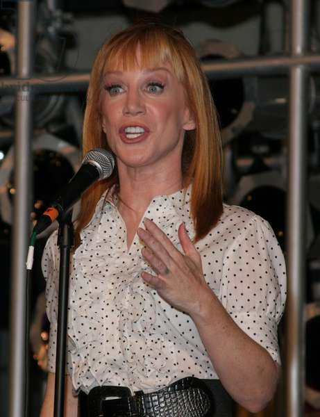Kathy Griffin drops her pants while performing at Johnny Chisholm's One Mighty Weekend, 2007, an Elton John Aids Foundation fundraiser, held at the MGM Disney Resort. Orlando, FL. June 2, 2007. (photo)