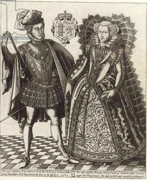 Mary, Queen of Scots, and Henry Stuart, Lord Darnley (engraving)