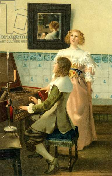 'The Carol'  after Lawrence Alma-Tadema