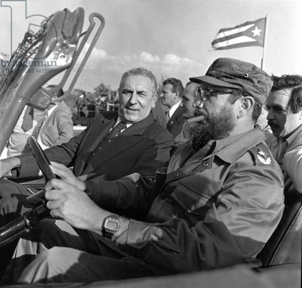 Prime Minister Wojciech Jaruzelski visits Cuba