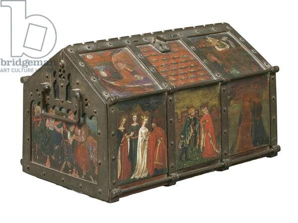 Jewel casket, 1859 (metal with wooden inlay)