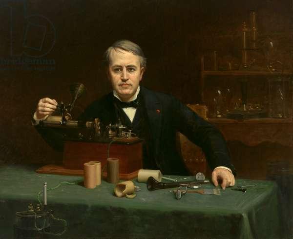 Thomas Alva Edison (1847-1931), 1890 (oil on canvas)