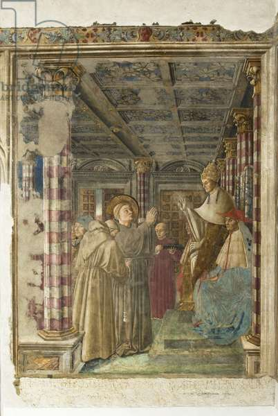 Dressing and profession in the Franciscan order of St. Louis from Toulouse in the presence of Boniface VIII, 1455-61 (fresco)