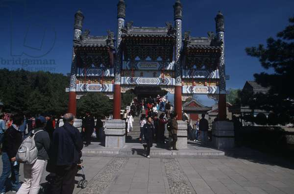 China, Beijing, tourists at Imperial Summer Palace