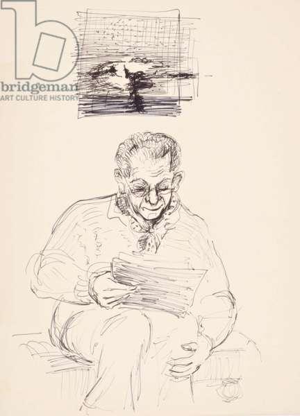 Cedric Morris, c.1963 (pen & ink)