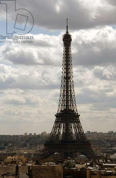 France. Paris. Eiffel Tower (1887-1889) by Gustave Eiffel (1832-1923).
