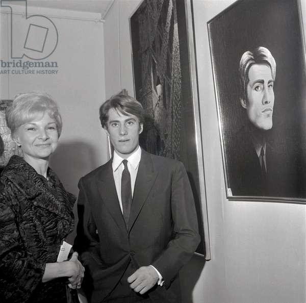 Colette Marchand and Jean-Pierre Bonnefous (b/w photo)