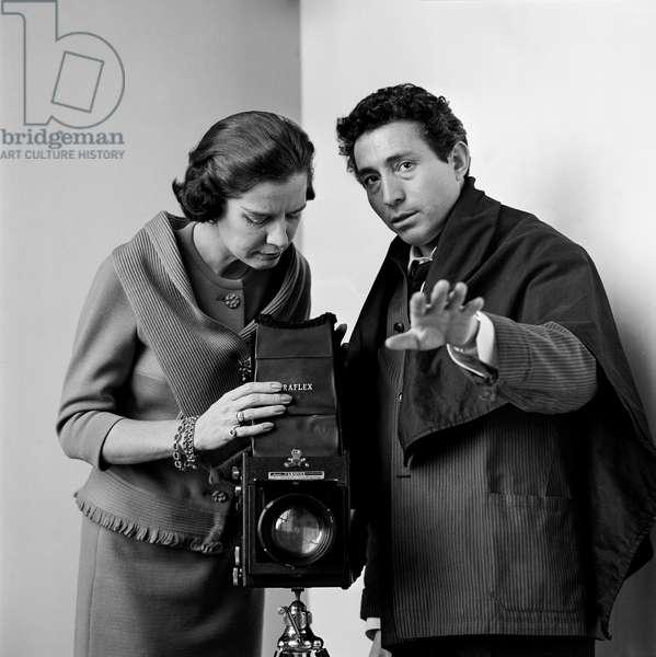 Tony and Marie, the fashion editor of Good Housekeeping Magazine, New York, 1960s (b/w photo)