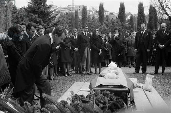 Switzerland Adel Juan Carlos, 1969 (b/w photo)