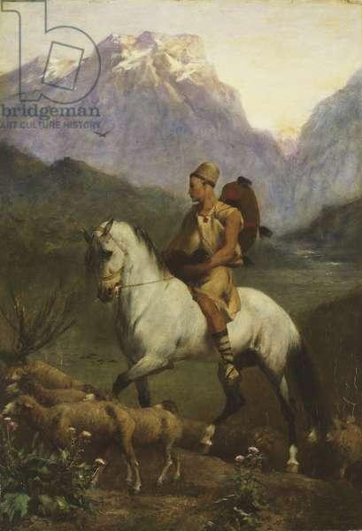 Kabyle Shepherd (Shepherd: High Plateau of Kabylia), after 1861 (oil on panel)