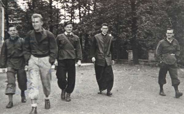 Bielsko. Photograph from Stanislaw Abrahamowicz's album. Karol Wojtyla during a trip near Bielska.