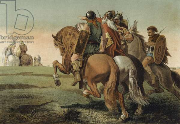 The Barbarians before Rome (chromolitho)