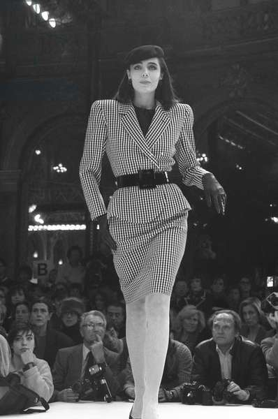 Dior fashion show, Spring/Summer 86, Paris, January 27, 1986 (b/w photo)