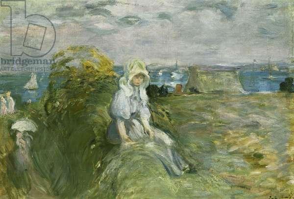 On the Cliff at Portrieux; Sur la Falaise au Portrieux, 1894 (oil on canvas)
