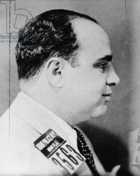 ALPHONSE CAPONE (1899-1947) American gangster. Photographed after his arrest in Miami, Florida, c.1930.