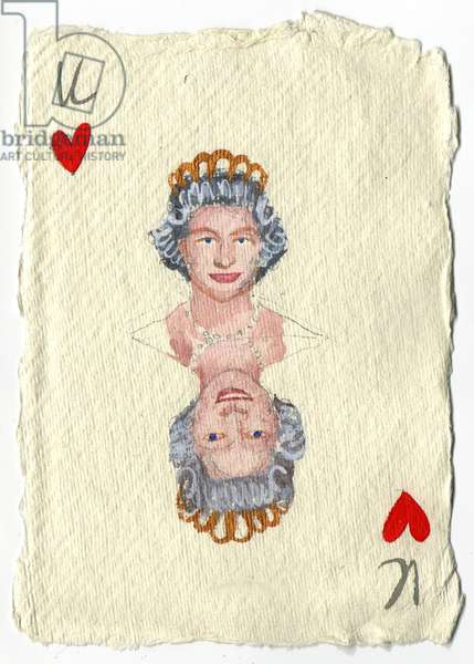 Elizabeth II, 2015 (gouache on paper)