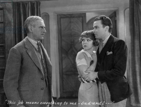 Claude King, Clara Bow, Stanley Smith, on-set of the Film,