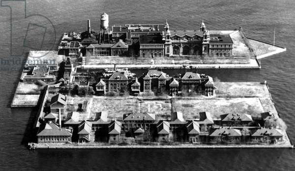 Ellis Island, New York, once the center of processing immigrants desiring entry into the United States. 1963 photo.