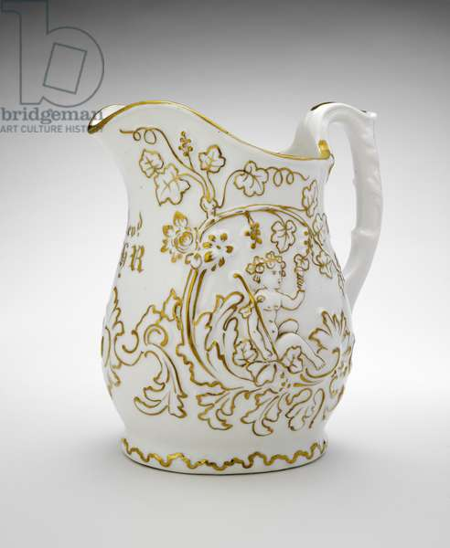 Pitcher, c. 1854-1857 (soft-paste porcelain with gilding)