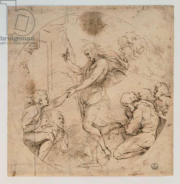 Christ in the Limbo, 1483 - 1520 (stylus, pen, paper)