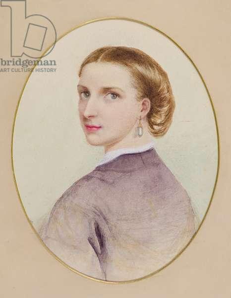 Self-Portrait, 1865 (w/c)
