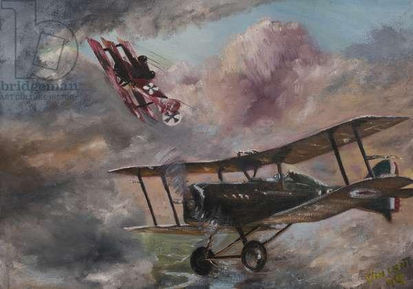 Dogfight 1917, 1995 (acrylic on canvas board)