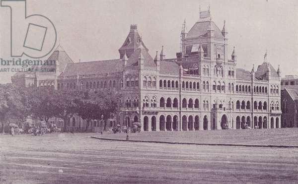 Elphinstone College, Bombay (b/w photo)