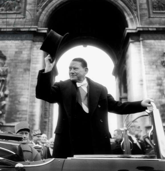 French President Rene Coty January 16, 1954 After Election (b/w photo)