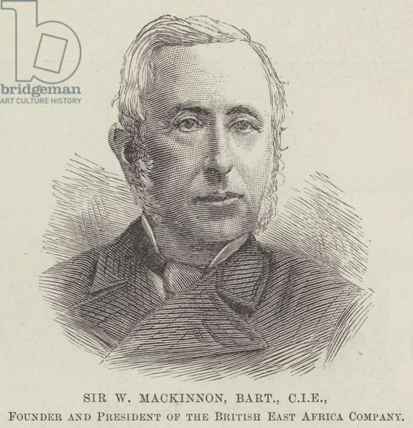 Sir W Mackinnon, Baronet, CIE, Founder and President of the British East Africa Company (engraving)