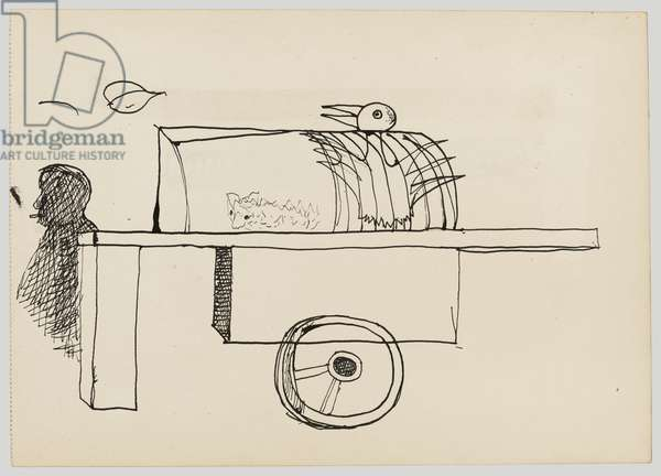 Bird and Cart, 1946 (ink on paper)