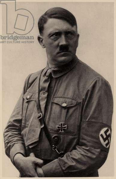 Adolf Hitler, leader of Nazi Germany, 1938 (b/w photo)