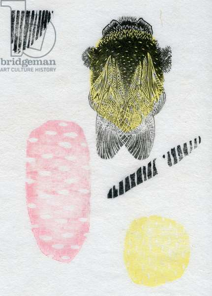 Atomic Bumblebee, 2013 (watercolour and oil on washi)