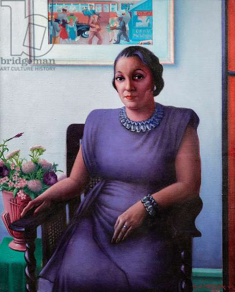 Portrait of a Cultured Lady, 1948 (oil on canvas)