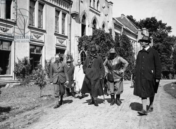 Paul von Hindenburg and Hermann Goering (b/w photo)