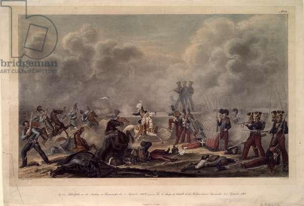 The Battle of Borodino (colour litho)