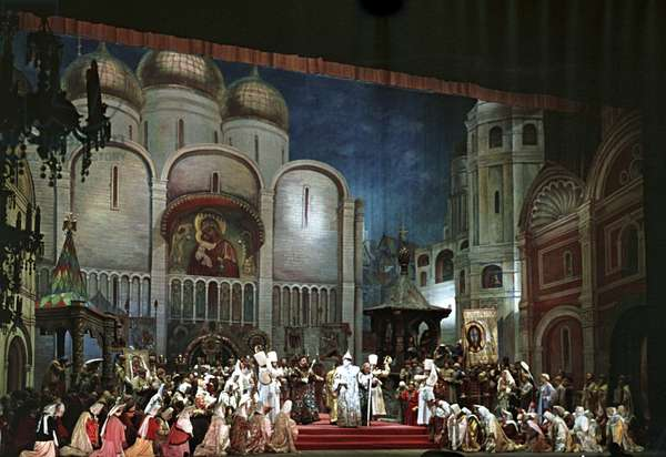 A scene from Act 1 of Modest Mussorgsky's opera