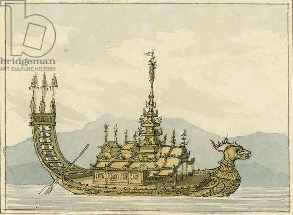 Golden Boat, 1809 (w/c)