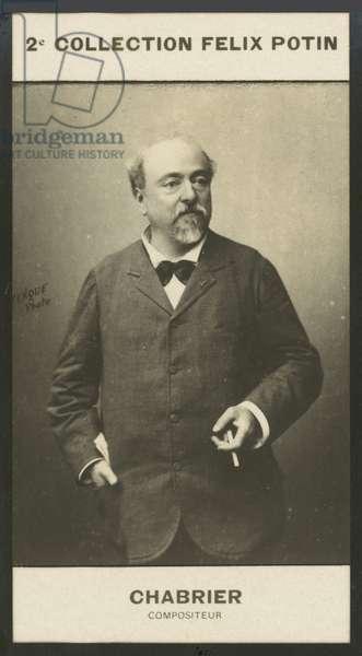 Alexis-Emmanuel Chabrier, Compositeur, 1842-1894 (b/w photo)