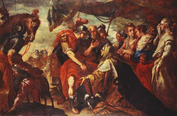 Coriolanus persuaded by his Family to raise the Siege of Rome, c.1660-61 (oil on canvas)