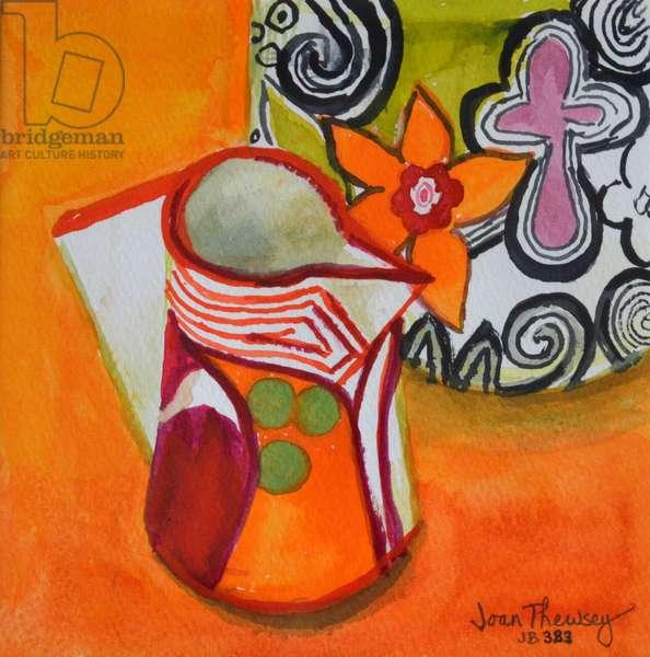 Art Deco Jug and Bowl,2000, (gouache)