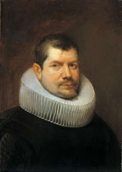 Portrait of a man with a large ruff, 1630 (oil on panel)