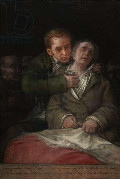 Self-Portrait with Dr. Arrieta, 1820 (oil on canvas)