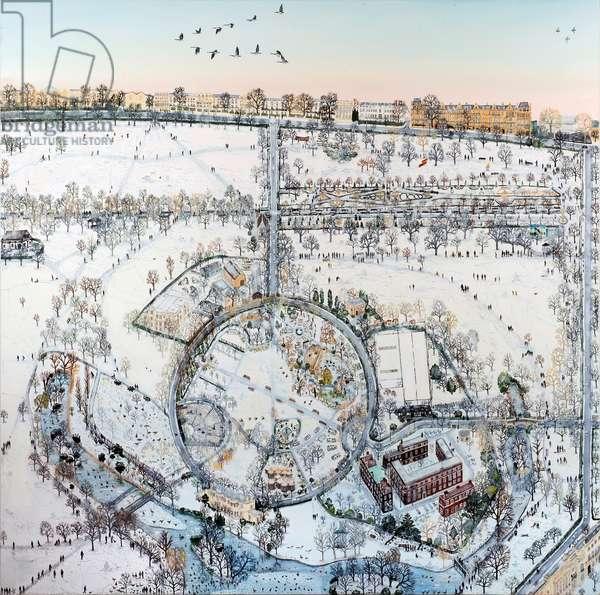 Mapping Regent's Park, 2016, (oil on linen)