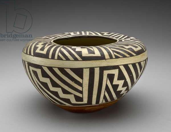 Jar (Olla) with Geometric Design, 1900-44 (earthenware with slip )