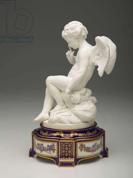 Cupid, circa 1757-1766; base 1777 (Soft-paste bisque)