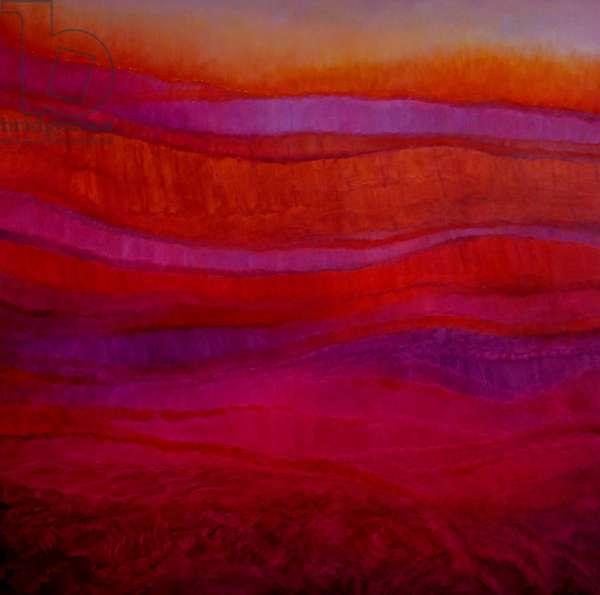 Magenta Deep, 2018, (oil on canvas)