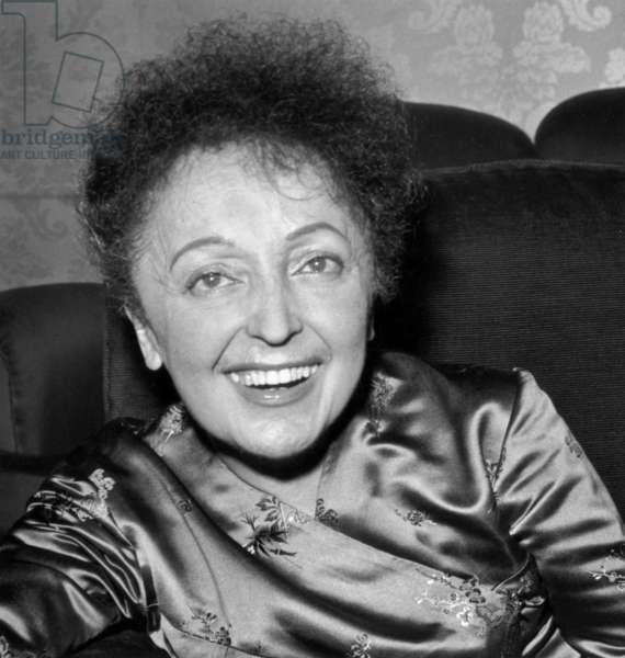 The Famous French Singer Edith Piaf (1915-1963), November 19, 1960 (b/w photo)