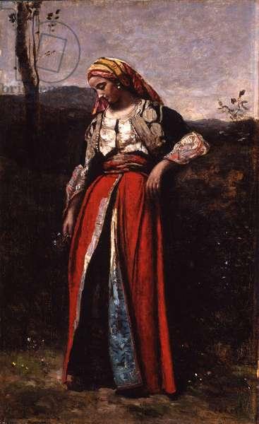 Portrait of Mlle Dobigny, 1865-70 (oil on wood)