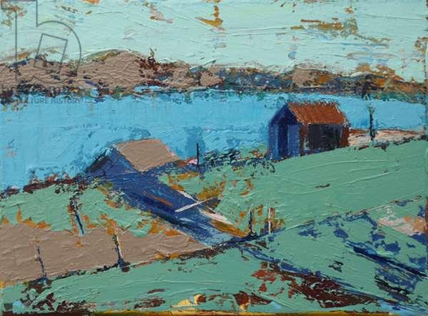 Farm stead (acrylic on canvas)